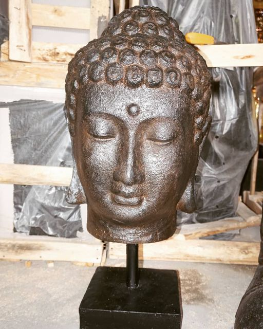 Head Buddha Statue with stand GRC
