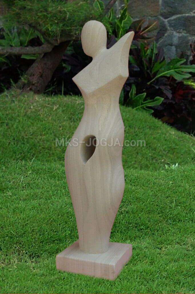 modern stone garden statue